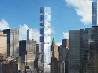 מגדל East 44th Street. גזרת סופר סקיני גם במגדלים / הדמיה: ODA