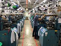 מפעל הגרביים אנפורנה בלהבות הבשן. החברה שינתה כיוון / צילום: באדיבות החברה