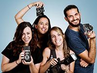 """מימין עידן אסלן, מנהל התחום המקצועי והשיווק, ליאור וינברגר, מייסדת ומנכ""""לית, קארין גרינברג, המנהלת האדמיניסטרטיבית, מאיה סגל,  מנהלת התוכן / צילום: גל לוי"""