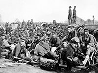 """מלחמת האזרחים בארה""""ב, 1860. פרצה לאחר בחירות שהמפסידים כפרו בתוצאותיהן / צילום: A. J. Russel, ויקימדיה"""