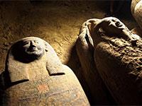 המומיות המסתוריות שהתגלו בבאר במצרים / צילום: משרד התיירות והעתיקות של מצרים
