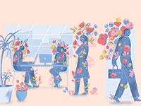 ניהול מקום עבודה שמח / איור: חן ליבמן