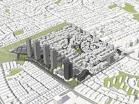 """תוכנית ההתחדשות העירונית של שכונת גבעת רמב""""ם בגבעתיים / הדמיה: אדר' יחיאל קורין"""