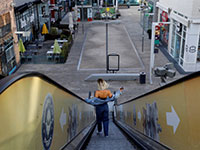 מרכז קניות באשדוד במהלך הסגר / צילום: Amir Cohen, רויטרס