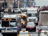 עומס תנועה בניו יורק./  צילום: Mary Altaffer AP