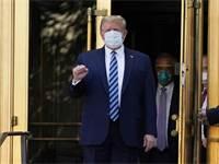 """נשיא ארה""""ב דונלד טראמפ השתחרר מבית החולים וולטר ריד / צילום: AP"""