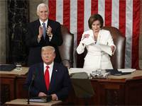 ננסי פלוסי קורעת את נאומו של דונלד טראמפ / צילום: AP