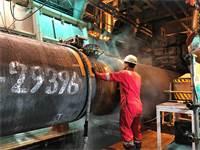 עבודות על צינור הגז נורד סטרים 2 על ספינת Allseas בספטמבר 2019. Allseas פרשו מהעבודות בשל הסנקציות האמריקאיות / צילום: Stine Jacobsen, רויטרס