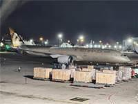 """מטוס מטען של חברת התעופה של האמירויות שנחת בנתב""""ג / צילום: מוני שפיר ורשות שדות התעופה, יח""""צ"""