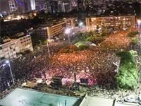 הפגנת העצמאים בתל אביב על מתווה הסיוע בשל משבר הקורונה / צילום: שלומי יוסף, גלובס