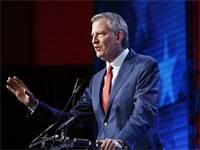 ראש העיר ניו יורק ביל דה בלאזיו / צילום: AP