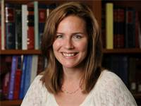 השופטת האמריקאית איימי קוני בארט / צילום: Matt Cashore/Notre Dame University, רויטרס