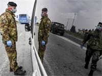 הסגר בצפון איטליה לאחר התפרצות נגיף הקורונה / צילום: Claudio Furlan/Lapresse, AP