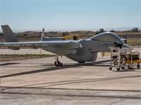 """מל""""ט הרון ימי בניסוי בכרתים / צילום: התעשייה האווירית"""