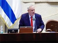 """בני גנץ בנאום ראשון כיו""""ר הכנסת / צילום: דוברות הכנסת - עדינה ולמן"""
