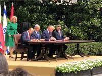 חתימת הסכם השלום בבית הלבן / צילום: טל שניידר, גלובס