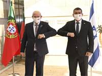 שר החוץ גבי אשכנזי ושר החוץ של פורטוגל אוגוסטו סאנטוס סילבה / צילום: חורחה נובומינסקי