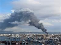"""השריפה בבז""""ן בדצמבר 2016 / צילום: ד""""ר אילן מליסטר, המשרד להגנת הסביבה"""