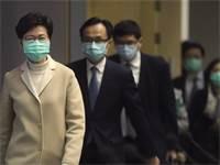פוליטיקאים בהונג קונג בצל וירוס הקורונה / צילום: Achmad Ibrahim, Associated Press