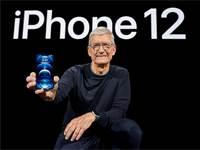 """מנכ""""ל אפל טים קוק בהשקת האייפון החדש / צילום: רויטרס"""