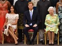 המלכה אליזבת השנייה, הנסיך הארי והדוכסית מייגן / צילום: רויטרס