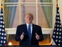 """דונלד טראמפ בבית הלבן אחרי ששוחרר מביה""""ח / צילום: Alex Brandon, AP"""