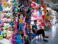 חנות צעצועים בסין, יוני. השוק הסיני אמנם עתיר בצרכנים, אך הם משתכרים הרבה פחות מאשר במערב / צילום: Aly Song, רויטרס