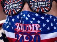 תומך של טראמפ בעצרת התמיכה בפנסילבניה / צילום: Alex Brandon, Associated Press