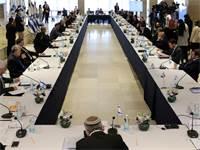ישיבת הממשלה הראשונה של ממשלת האחדות / צילום:  Abir Sultan, רויטרס