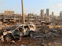 הנזק באזור הנמל בביירות לאחר הפיצוץ / צילום: MOHAMED AZAKIR, רויטרס