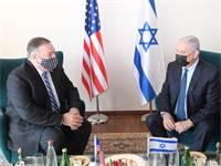 """נתניהו נפגש עם מזכיר המדינה האמריקאי מייק פומפאו / צילום: עמוס בן גרשום, לע""""מ"""