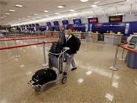 """נמל התעופה בסולט לייק סיטי בארה""""ב כמעט ריק לחלוטין / צילום: Rick Bowmer, AP"""