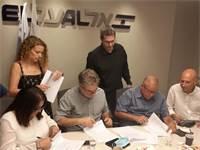 חתימת ההסכם באל על / צילום:  דוברות ההסתדרות