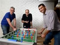 מייסדי OwnBackup: אורי ינקילב ואריאל ברקמן; ורועי דובר, סגן נשיא להנדסה צילום: איל יצהר