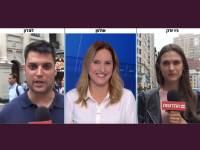 יונה לייבזון ואלעד שמחיוף מדווחים בחדשות 12 / צילום: צילום מסך, גלובס