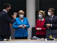 מנהיגי האיחוד האירופי בוועידת הפסגה על שיקום היבשת ממשבר הקורונה / צילום: Francisco Seco, Associated Press
