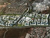 """הדמיית התוכנית של שיכון ובינוי ל-4,000 דירות בר""""ג / צילום: קולקר אפשטיין אדריכלים"""
