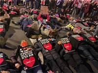 פעילי 'אין מצב' מוחים נגד אלימות משטרתית בבלפור / צילום: אין מצב