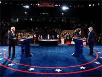 העימות הטלוויזיוני בין הנשיא טראמפ ולבין ג'ו ביידן / צילום: Jim Bourg, AP