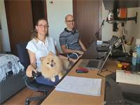 המשרד הביתי של מירב, סידני ומיסי רוזנשטוק בסאן חוזה, קוסטה ריקה / צילום: תמונה פרטית