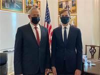 שר הביטחון בני גנץ וג'ארד קושנר / צילום: משרד הביטחון