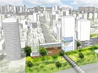 הדמייה של התוכנית שאושרה להתחדשות עירונית בשכונת קריית נורדאו בנתניה / צילום:
