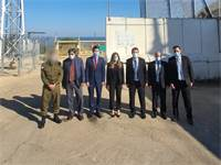 המשלחת הישראלית על גבול לבנון / צילום: משרד האנרגיה
