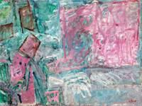 """ציור שמן על בד ללא כותרת של יוסף זריצקי מתוך אוסף האומנות של אי.די.בי / בית המכירות תירוש / צילום: בית המכירות תירוש, יח""""צ"""