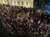 מפגינים מול מעון ראש הממשלה / צילום: בן כהן