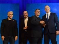 ראשי מפלגת כחול לבן / צילום: איל יצהר, גלובס