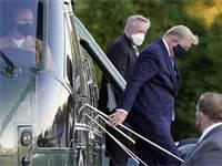 הנשיא טראמפ מגיע להתאשפז בבית החולים וולטר ריד, לאחר שאובחן חיובי לקורונה. / צילום: ג'ייקלואין מרטין, AP