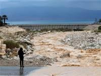 שיטפון באזור עין גדי / צילום: Ronen Zvulun, רויטרס