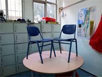 כיתה ריקה לאחר השבתת מערכת החינוך בעקבות הקורונה / צילום: Oded Balilty, Associated Press