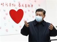נשיא סין שי ג'ינגפינג מבקר באחד המחוזות הנגועים בנגיף הקורונה בסין / צילום: Liu Bin/Xinhua, Associated Press